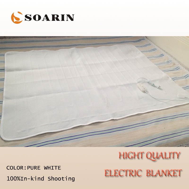 Soarin Electric Blanket Double Pure White Heating 220v Heated 150x120cm Manta Electrica Body Warmer Bed In Blankets From