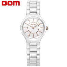 Watch Women DOM brand luxury Fashion Casual quartz ceramic watches Lady relojes mujer  wristwatches Dress clock T-520-7M