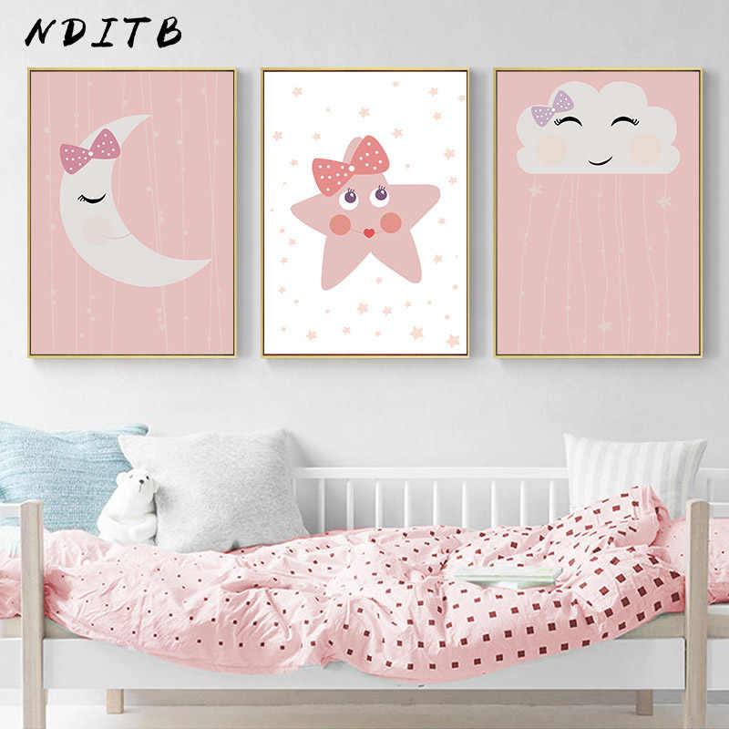 Nditb Cute Smile Cloud Star Canvas