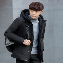 b 2018 High Quality winter thick white duck down mens casual jacket fashion Male Casual Winter Outerwer Down Parkas