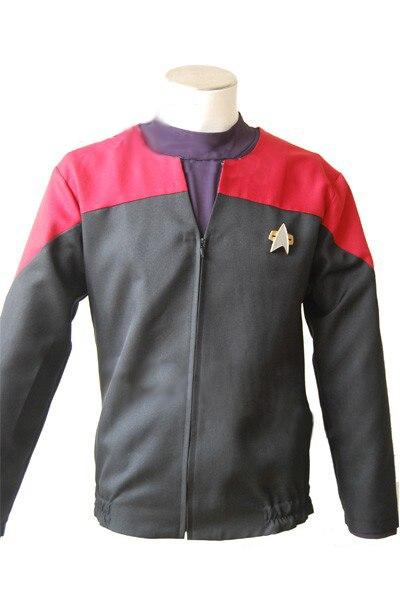 Star Trek Voyager Command Uniform Full Set Cosplay Costume Red For Christmas Hallowen Full Sets
