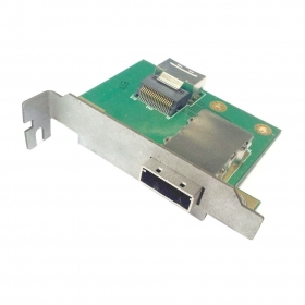 20pcs / lots Low Profile Half Height Internal SFF-8087 to External SFF-8088 PCI SAS Adapter Panel mount,  Free shipping By Fedex mini sas 26f sff 8088 to mini sas 36f sff 8087 adapter card dual port