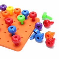 Hot 30PCS Peg Board Set Montessori Therapy Fine Motor Toy for Toddlers Pegboard 7.3