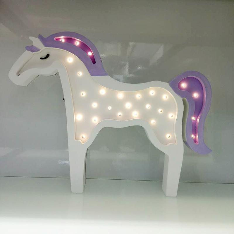 Pferd kinder Weihnachten lampe geschenk Luminarias De Innenwand ...