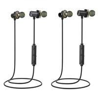 Sports Waterproof Stereo Earbud Original AWEI X650BL Wireless Earphone Bluetooth Headset Neckband Earpiece Dual Moving Coil