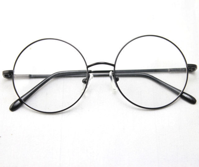 2c4ce9dfda 46mm Size Oversized Retro Vintage Harry Potter Style Round Eyeglass Frames  Black Gold Silver Gun Grey Optical RX-in Eyewear Frames from Apparel  Accessories ...