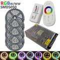 5050 RGBW LED Strip 20m + 2.4G Touch controller DC12V 60LED/m RGBW / RGBWW Flexible LED Light +15A Power supply AC110/240V Set