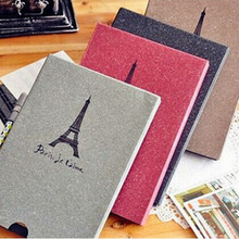 Blank Cover Paris tower boxed craft paper album graffiti diary photo album handmade DIY photo album Scrapbooking wedding album(China)