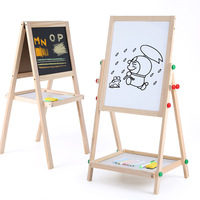 Onshine children wooden double sided magnetic drawing board whirling/Type A creatively easel small blackboard whiteboard toy 3Y+