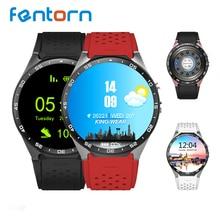 KW88 Reloj Inteligente MTK6580 Quad A Core 400*400 Smartwatch Android 5.1 OS 3G WiFi GPS Reloj Del Ritmo Cardíaco Reloj Inteligente