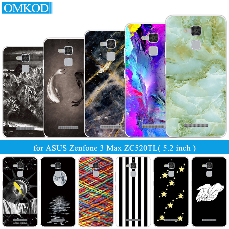 Phone-Case Zenfone ZC520TL X008D Silicon Asus For Fish-Fundas 3-Horse-3x008 Max 3-Max