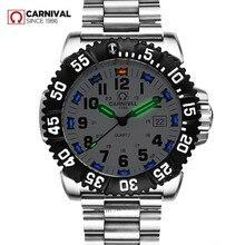 Marca de luxo tritium luminoso relógio de quartzo dos homens à prova dwaterproof água esportes masculino relógios aço completo relógio trítio luz uhren damen saat