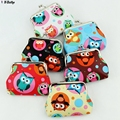 Lovely Owl coin purses,Kid's Clutch zero wallet,girl's Hasp change purse buckles coin/money bags Pouch Children wallet wholesale