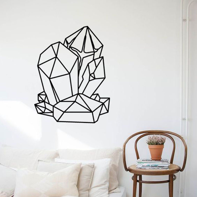 Geometric GEMSTONES Wall Sticker Vinyl Removable Interior