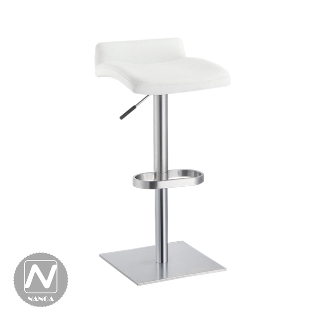 Fashion Metal Furniture Home Bar Chairs Small Apartment Lift Stainless Steel White Leather Stools Company