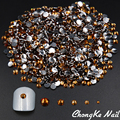 5 Size Coffee Color 3D Nail Art Diamante Nail Tools Decorations Glitter Rhinestones For Nail Jewelry Tips