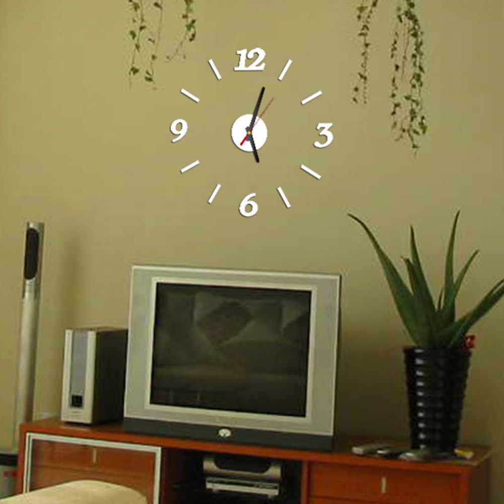 Modernes Design Wanduhr Horloge Wohnzimmer Uhr Diy 3d Home Dekoration Spiegel Kunst Design Wohnzimmer Quarz Nadel Decor