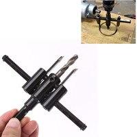 30mm 120mm Adjustable Metal Wood Circle Hole Saw Drill Bit Cutter Kit DIY Tool