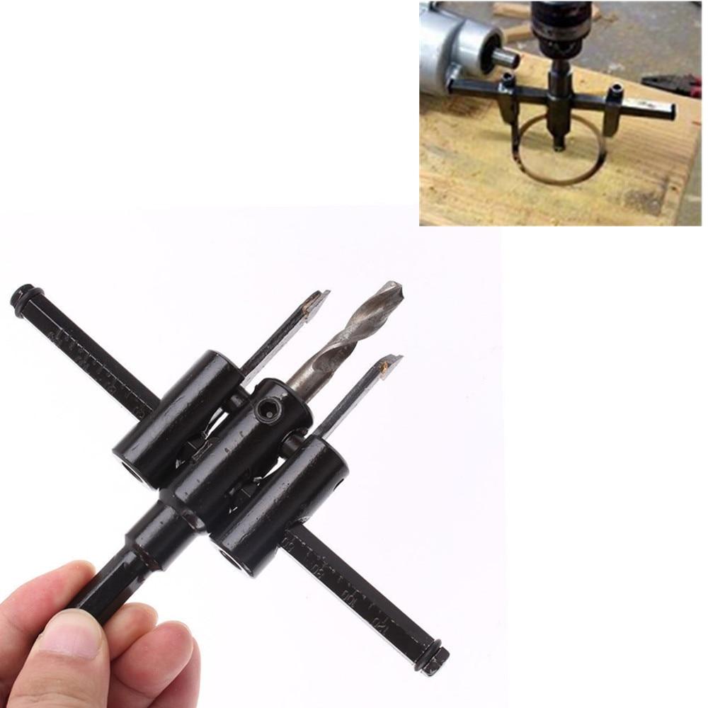 Děrovačka otvorů 30 mm - 120 mm Nastavitelná kruhová fréza s nastavitelným kruhovým vrtákem a vrtáky do dřeva