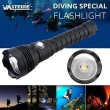 Super Brightness 4 mode 3000K Yellow light XHP70 LED diving flashlight 26650 Underwater 100m Scuba torch tactical flashlight цена