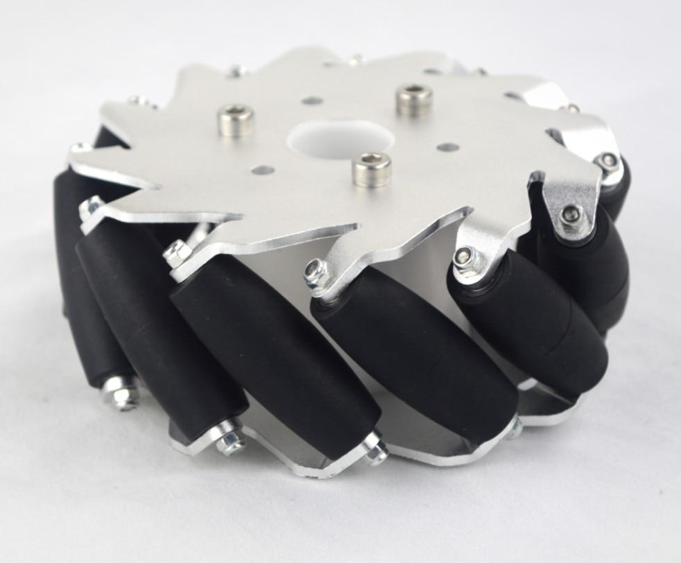 A set of 127mm Aluminum Mecanum Wheels Set Basic ( 2 Left, 2 Right)  14198