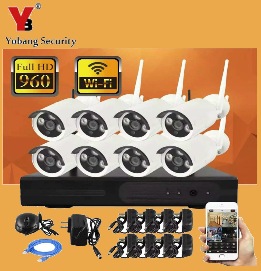 YobangSecurity 8CH 720P Wireless Surveillance Camera Kit with Security Outdoor 8x1.0MP Wifi Night Vision Bullet Cameras RemoteYobangSecurity 8CH 720P Wireless Surveillance Camera Kit with Security Outdoor 8x1.0MP Wifi Night Vision Bullet Cameras Remote