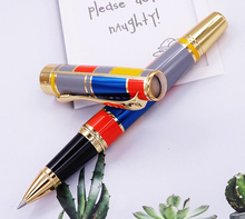 Hero 767 Roller Ball Pen with Golden Trim Fashion Colored Ink Smooth Refill Great for Gift Graduate Business Office