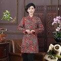 Mutilcolor Осень Зимнее Пальто Китайский Стиль Традиция женская Хлопок Лен Тонкий Ватные Куртки Пальто L XL XXL