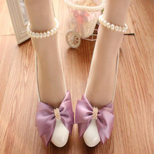 Citron Purple Bow Bridesmaid Shoes Platform Shoes For Wedding Girls Bridal Shoes Ladies Heels Cheap Womens Pumps Heels White(China)