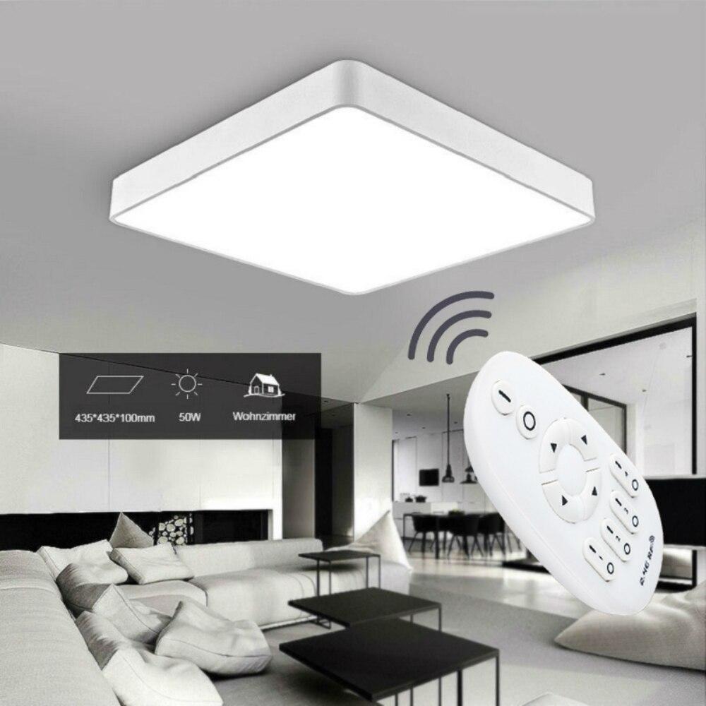 Modern 24w 30cmx30cm Square Led Ceiling Light Led Ceiling: 24W 50W 60W Round Square Dimmable Ceiling Modern Light LED
