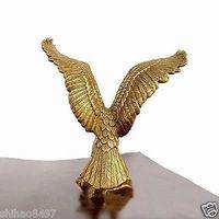 Small BRASS Brass Statue EAGLE/Hawk Figure figurine 4.5 High Garden Decoration 100% real Brass BRASS