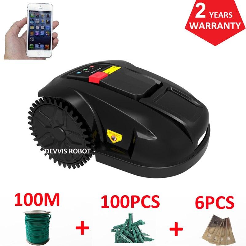 Дешевый Электрический роботизированная газонокосилка резак травы E1800S сад косить машина с 2.2AH литий ионный Батарея, воды оборудована устрой
