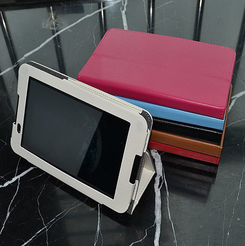 Galleria fotografica New Luxury Magnetic Folio Stand Leather Case Protective Cover For Lenovo Tab IdeaTab A8-50 A5500 8