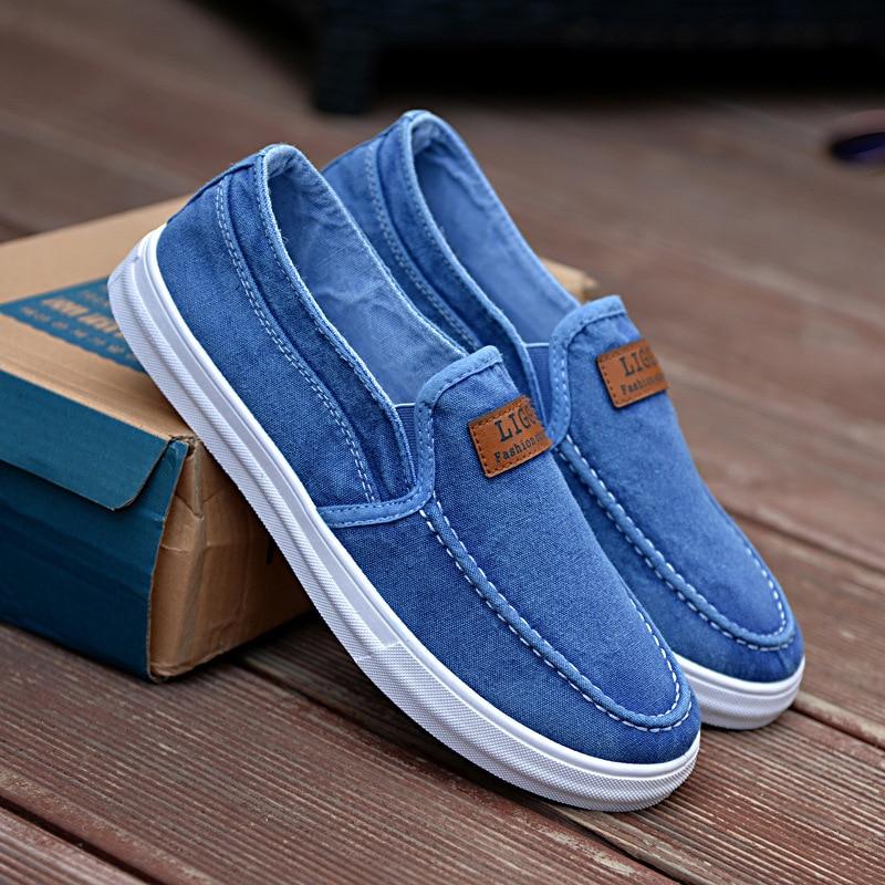 2 Hombre En Resbalón Mocasín Lona Diseñador Alpargatas Azul 3 Zapatos Zapatillas De Verano Casual 2017 1 Superstar Z0IfBx