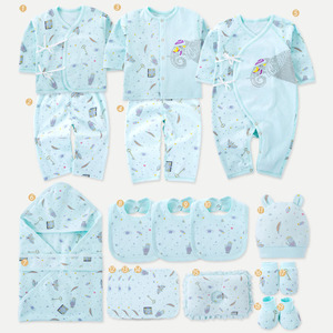 Image 3 - Elephant Newborn Baby Girl Clothes Cotton Print New Born Baby Boy Clothes Infant Clothing Baby Outfit Newborn Set