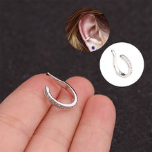 1pc Adjustable Cz Cartilage Ear Cuff Ear Wrap No Piercing Earcuff Conch Cuff Earring Fake Ear Piercing Jewelry(China)