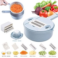 10in1 Vegetable Slicer Vegetable Spiralizer Cutter and Shredder Kitchen Multi purpose Grater with Guard and Egg white Separa