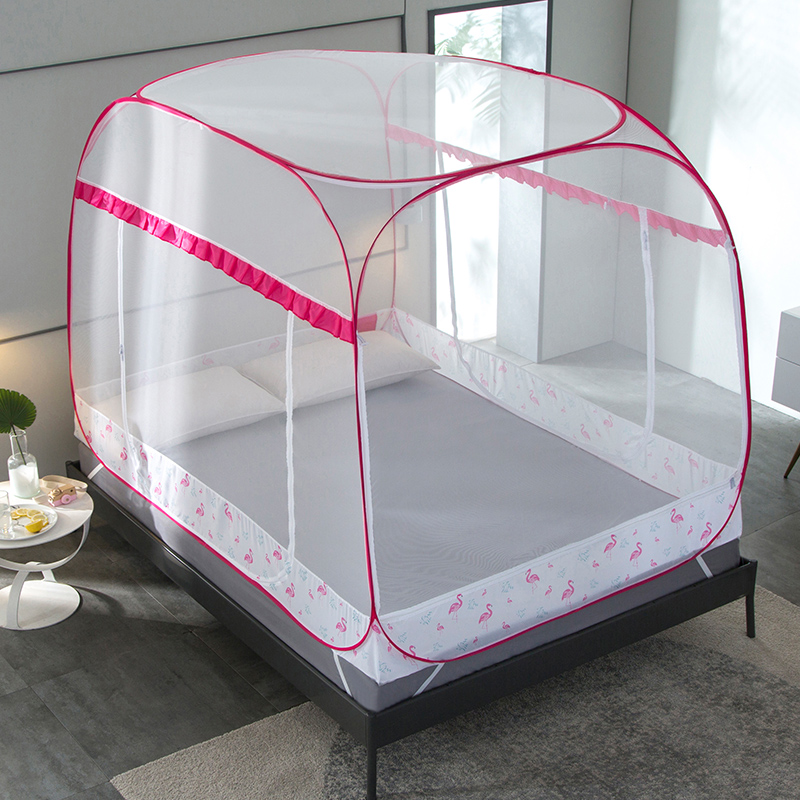 New Mongolian Yurt Mosquito Net For Double Bed Zipper Insert Mesh Canopy Curtain Dome Bed Tent