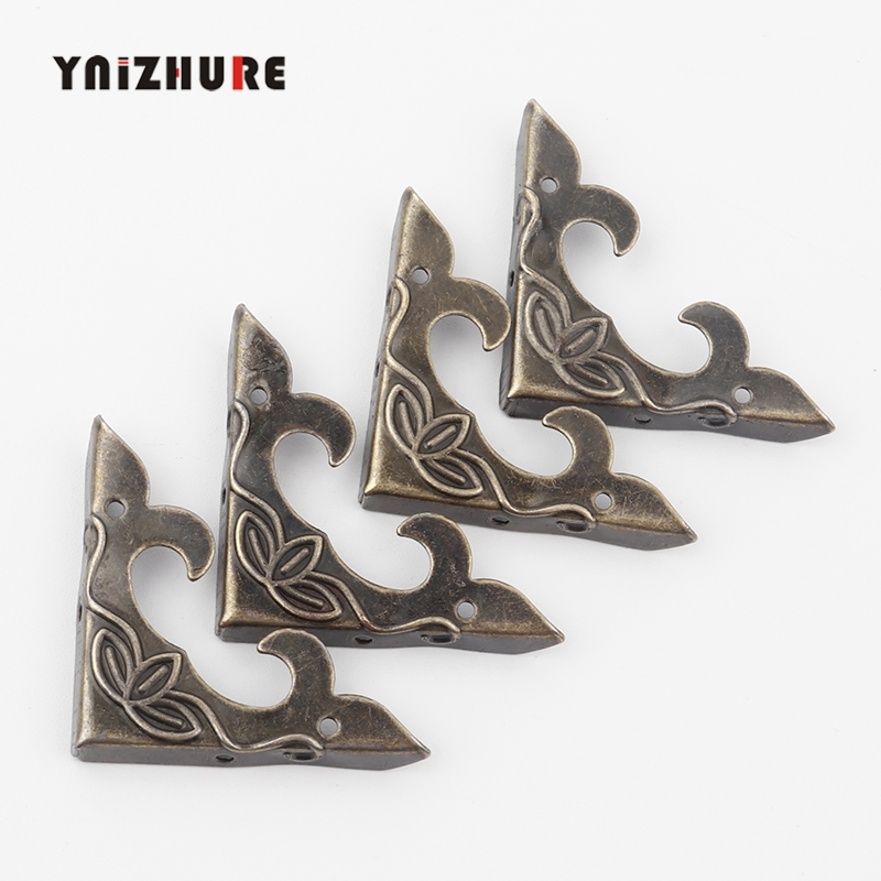 10PCS  Antique Corner Bracket 30mm Scrapbook Albums Jewelry Wooden Box Decorative Protector Crafts For Furniture Hardware