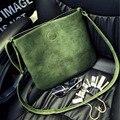 Зеленый ведро мешок pu сумка почтальона сумочки винтаж crossbody композитный сумки женщин небольшую сумку bolsas pequena мешок 2016 зеленая сумка зеленые сумки сумка зеленая сумки женские сумка зеленая