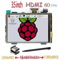 التوت بي 3.5 بوصة hdmi lcd لمس الشاشة 60 fps عالية السرعة أفضل 480*320-1920*1080 من 5 بوصة و 7 بوصة