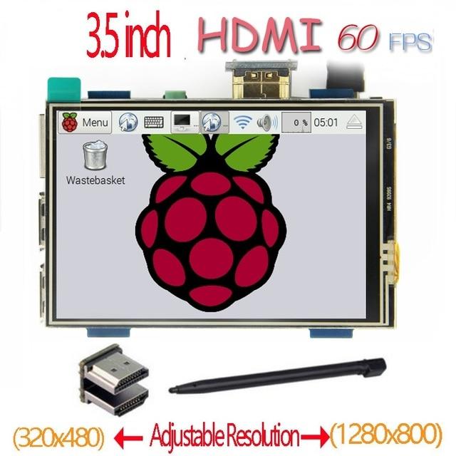 Framboise pi 3.5 pouces HDMI LCD écran tactile 60 fps haute vitesse mieux 480*320 1920*1080 que 5 pouces et 7 pouces