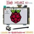 Raspberry pi 3,5 pulgadas HDMI LCD pantalla táctil 60 fps alta velocidad mejor 480*320-1920*1080 a 5 pulgadas y 7 pulgadas