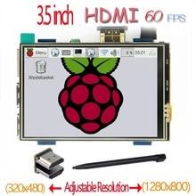 Raspberry pi HDMI 3.5 pollici LCD touchscreen dello schermo di tocco 60 fps ad alta velocità migliore 480*320 1920*1080 di 5 pollici e 7 pollici