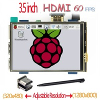 raspberry pi 3.5 inch HDMI LCD touchscreen touch screen 60 fps high speed better 480*320 1920*1080 than 5 inch and 7 inch