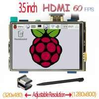 Raspberry pi-pantalla táctil LCD de 3,5 pulgadas, HDMI, 60 fps, alta velocidad, mejor, 480x320-1920x1080, de 5 pulgadas y 7 pulgadas