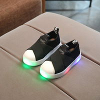 2017 New European LED Children Shoes High Quality Fashion Girls Boys Shoes Hot Sales Lighting Glowing
