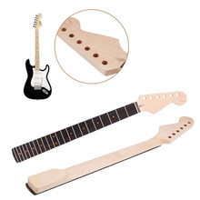 Electric Guitar Neck Polished 22 Fret Maple Wood Rosewood Fretboard For ST Parts