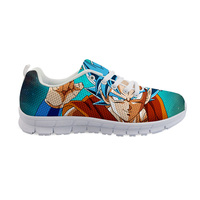 THIKIN Cartoon Brand Women Sneakers Hot Fashion Dragon Ball Design Sports Shoes White Lace Up Runing Shoes For Girls