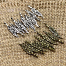 Vintage pcs Feathers Charms